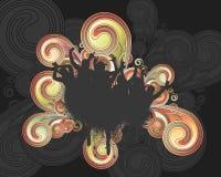 свирль grunge вентиляторов Стоковые Фото