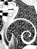 Свирли на ковре Стоковое фото RF