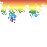 Свирли радуги Стоковые Фото