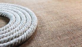 Свирль веревочки с джутом Стоковые Фото