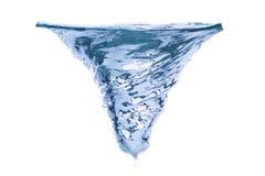 Свирль воды на белом изоляте Стоковое фото RF