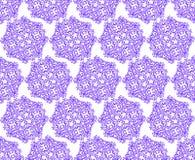 Свирль декоративной картины флористического орнамента каллиграфическая безшовная Стоковое Фото
