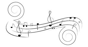 Свирль музыки Стоковая Фотография