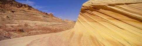 Свирль, нашивки песчаника, земля BLM, Колорадо Стоковые Изображения
