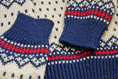 свитер близкого knit нордический вверх Стоковая Фотография RF