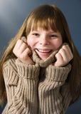свитер девушки подростковый Стоковая Фотография