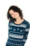 свитер девушки рождества Стоковая Фотография RF