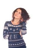 свитер девушки рождества Стоковые Фото
