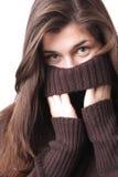 свитер девушки Стоковое Изображение RF