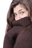 свитер девушки Стоковая Фотография RF