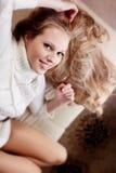 свитер девушки Стоковое фото RF