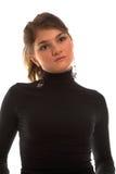 свитер девушки balck Стоковые Фотографии RF