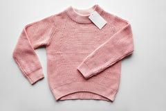 Свитер или пуловер с ценником Стоковое Изображение
