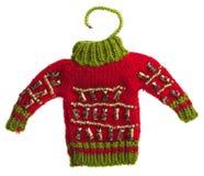 Свитер красного цвета игрушки Стоковая Фотография RF