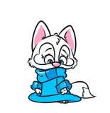 Свитер милого кота теплый иллюстрация штока