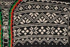 свитер норвежца детали Стоковая Фотография RF