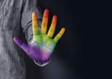 Свобода выражения для концепции гомосексуалиста и гомосексуалиста публично, стоковые изображения