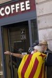 Свобода митингов протеста и независимость Испания Каталония Барселона Стоковые Фото