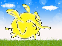 свобода мухы слона иллюстрация вектора