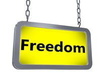Свобода на афише иллюстрация штока