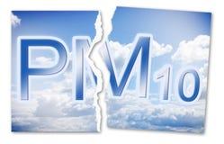 Свобода от твердых примесей в атмосфере PM10 в воздушно- изображении концепции с сорванным фото стоковое изображение rf