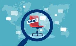 Свободная вакансия для корпоративной работы иллюстрация вектора