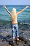 свободная женщина Стоковые Фото
