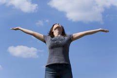 свободная женщина Стоковая Фотография