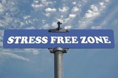 свободная зона усилия дорожного знака Стоковые Изображения