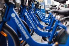 Свободные велосипеды вокруг Melboune Стоковая Фотография