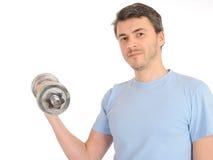свободный здоровый человек вне утяжеляет работу Стоковые Фотографии RF