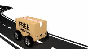 Свободный картон перевозкы груза иллюстрация штока