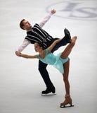 свободный кататься на коньках представления пар Стоковая Фотография RF