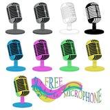 Свободный микрофон для представления с дикторы, певицы, шуточные стоковые фото