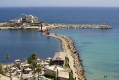 Свободный полет моря в Monastir, Тунис в Африке стоковое фото