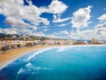 свободный полет пляжа Стоковые Изображения