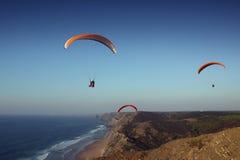 свободный полет Португалия пляжа algarve Стоковое Изображение RF