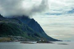 свободный полет северная Норвегия Стоковая Фотография RF