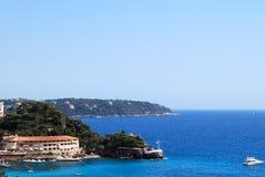 свободный полет Франция Италия среднеземноморское Монако Стоковое Изображение