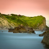 свободный полет dorset Англия скалы юрская Стоковые Фото