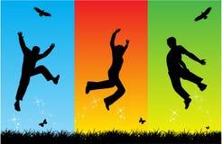 свободный скакать Стоковая Фотография