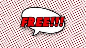 Свободный текст в воздушном шаре речи в шуточной анимации стиля бесплатная иллюстрация