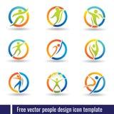 Свободный шаблон значка дизайна людей вектора иллюстрация штока