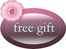 свободный ярлык подарка Стоковые Изображения