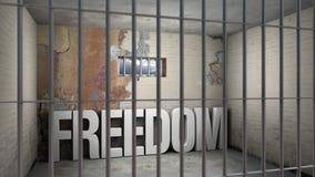 Свобода в тюрьме иллюстрация штока