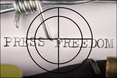 Свобода концепции прессы стоковое фото rf