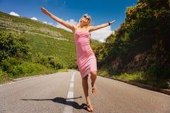 Свобода на открытой дороге Стоковые Фото