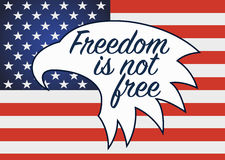 Свобода не свободна День ветеранов в США Стоковая Фотография