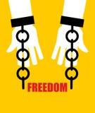 Свобода Сломленные оковы Высвобождение от рабства Сломленная цепь h бесплатная иллюстрация