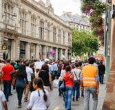 Свобода для протеста Abdullah Ocalan на улице страсбурга Стоковые Фотографии RF